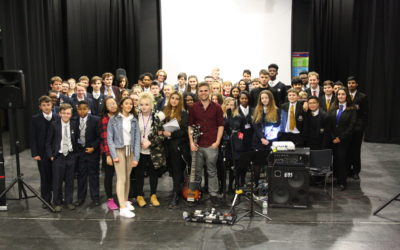 Pro Bassist Sandy Beales Inspires Young Musicians